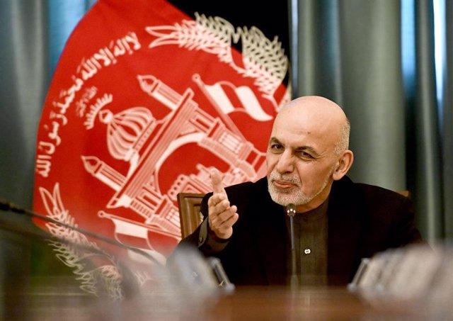 Archivo - El presidente de Afganistán, Ashraf Ghani