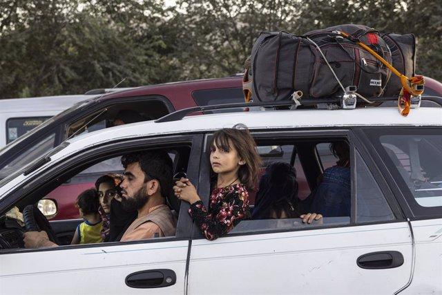Desplazados en Kabul por el recrudecimiento de los combates en el norte de Afganistán