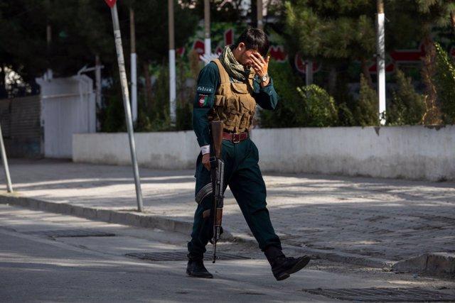 Policia a Kabul