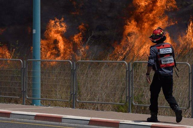 Imagen de archivo de un incendio en Israel