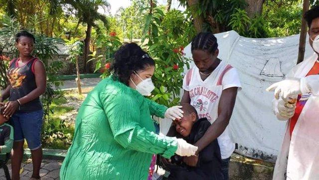 Atención a las víctimas del terremoto en Les Cayes, Haití
