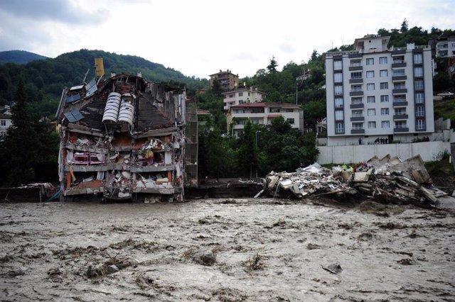 Inundaciones en la provincia de Kastamonu, en el norte de Turquía