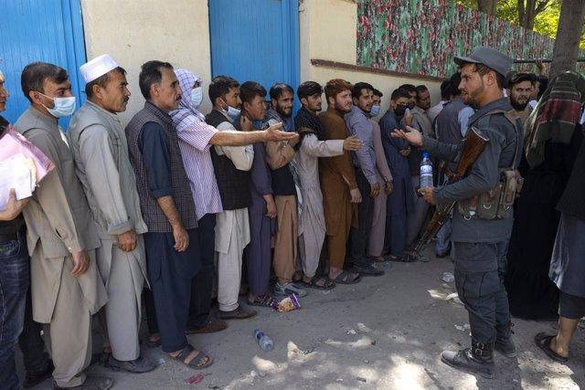 Desplazados en Kabul