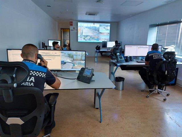 Centro de Control de la Policía Portuaria del Puerto de Barcelona