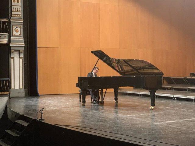 Archivo - Pianista ganador premio málagacrea 2019 piano concierto beca muestra cultura
