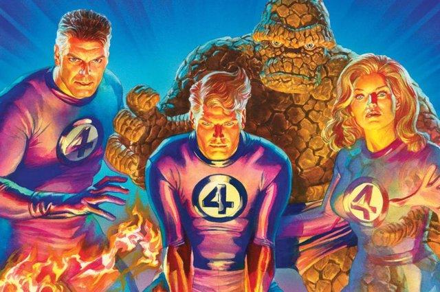 Los Cuatro Fantásticos dibujados por Alex Ross
