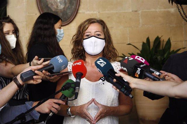 La presidenta del Govern, Francina Armengol