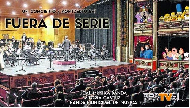 La Banda Municipal de Música de Vitoria cerrará el FesTVal con un recital con bandas sonoras de ficciones televisivas