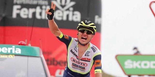El ganador de la tercera etapa de La Vuelta 2021, disputada entre Santo Domingo de Silos y el alto de Picón Blanco sobre 202,8 kilómetros, el estonio Rein Taaramäe (Intermarché-Wanty-Gobert)