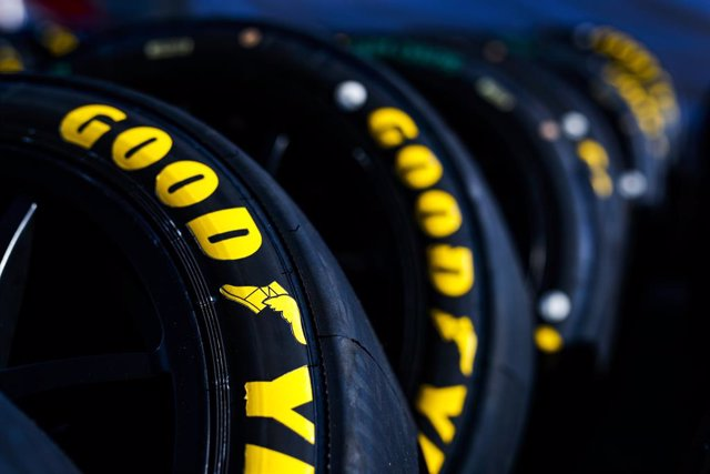 Archivo - Goodyear tyres during the 2020 FIA WTCR Race of Slovakia, 3rd round of the 2020 FIA World Touring Car Cup, on the Automotodrom Slovakia Ring, from October 9 to 11, 2020 in Orechova Poton, Slovakia - Photo Florent Gooden / DPPI