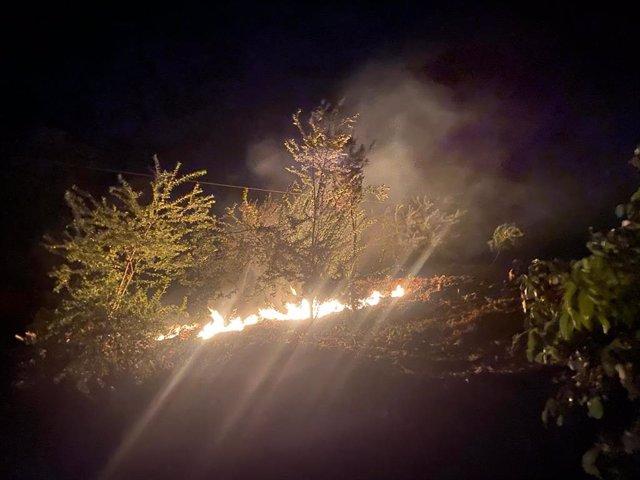 Conato de incendio en Camino Chasna, en La Orotava