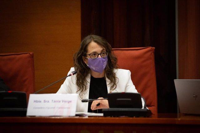 La consellera d'Igualtat i Feminisme, Tania Verge, en una imatge d'arxiu
