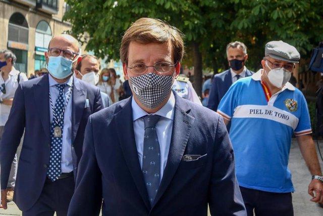 El alcalde de Madrid, José Luis Martínez-Almeida, en una imagen de archivo de este 15 de agosto.