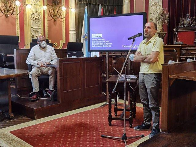 El alcalde de Ourense, Gonzalo Pérez Jácome, en un acto en el consistorio