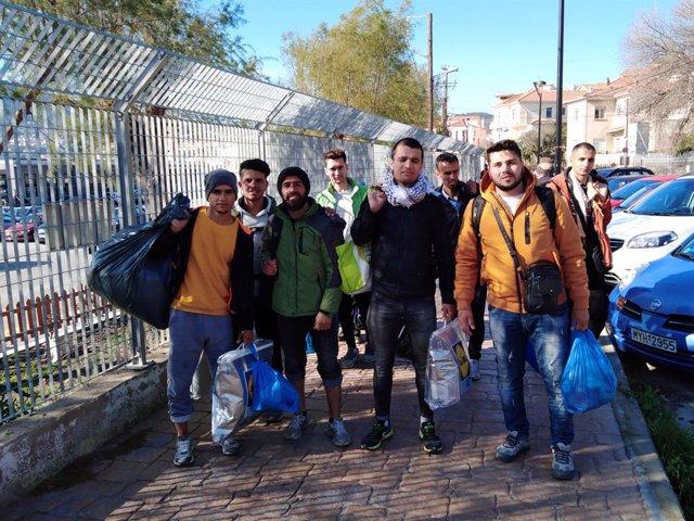 Archivo - Migrantes afganos en Grecia