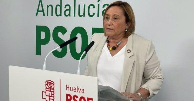 La coordinadora general del PSOE de Huelva y portavoz de Pesca en la Comisión de Agricultura, Pesca y Alimentación del Congreso, María Luisa Faneca.