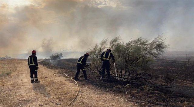 Incendio en el municipio madrileño de Batres