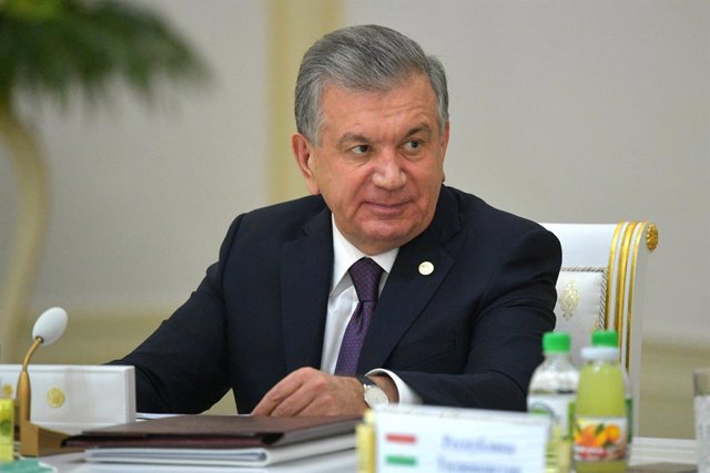 Archivo - Imagen de archivo del presidente de Uzbekistán, Shavkat Mirziyoyev.