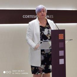 Archivo - La diputada del PP, Pilar Gayán