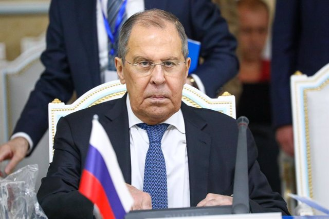 Archivo - HANDOUT - 14 July 2021, Tajikistan, Dushanbe: Russian Foreign Minister Sergey Lavrov attends a meeting of the Foreign Ministers of the member states of the Shanghai Cooperation Organisation. Photo: -/Russian Foreign Ministry /dpa - ATTENTION: ed
