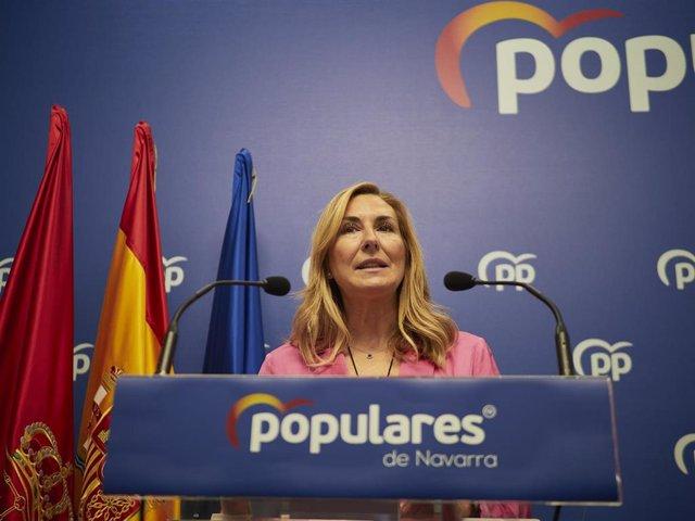 Archivo - Imagen de archivo de la vicesecretaria de Organización del PP, Ana Beltrán, en rueda de prensa