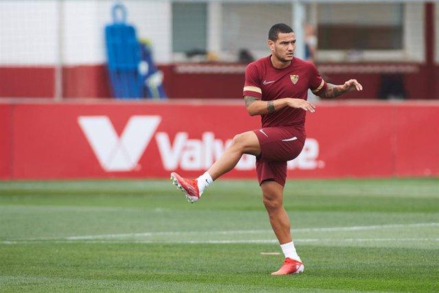 Rony Lopes durante un entrenamiento con el Sevilla