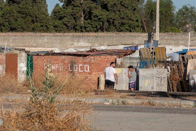 Archivo - Asentamiento chabolista de El Vacie.