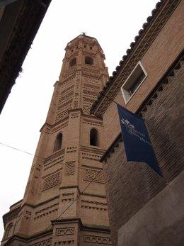 Archivo - Torre de la Colegiata de Santa María de Calatayud.
