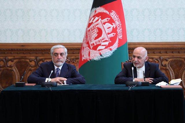 Archivo - Abdulá Abdulá y Ashraf Ghani