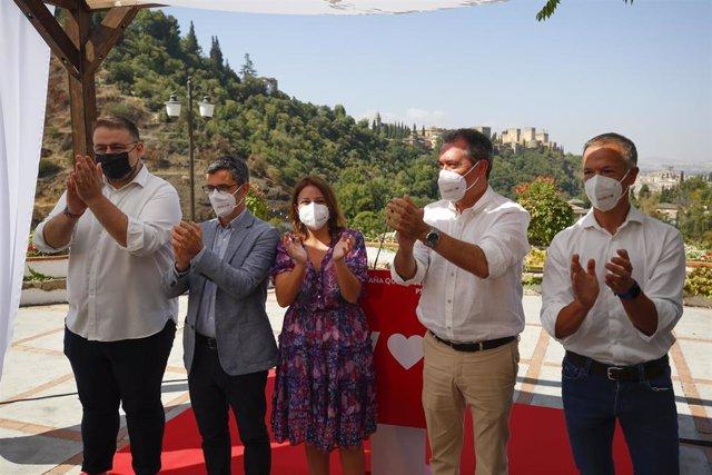 Ricardo Rosas, Félix Bolaños, Adriana Lastra, Juan Espadas y Ander Gil, en La Chumbera