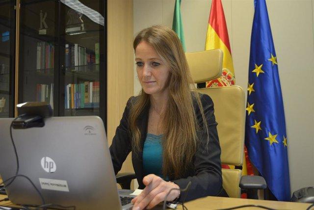 Archivo - La delegada de Transformación Económica de la Junta en Granada, Virginia Fernández, en imagen de archivo