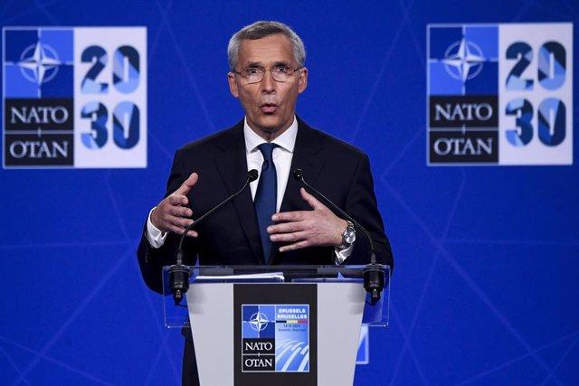 Archivo - El secretario general de la OTAN, Jens Stoltenberg