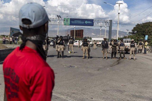 Imagen de archivo de una protesta en Haití