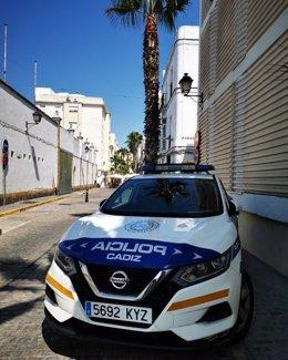 Patrulla de la Policía Local de Cádiz.