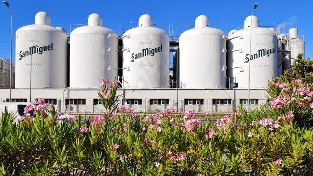 Fábrica de la cervecera Mahou San Miguel en Málaga capital