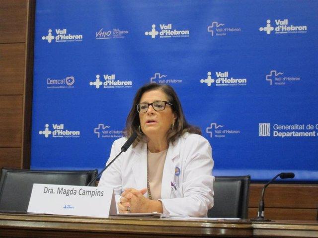 Archivo - Arxivo - La cap d'Epidemiologia de Vall d'Hebron, Magda Campins (Arxiu)