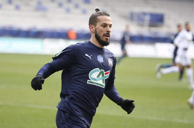 Archivo - Dario Benedetto of Marseille during the French Cup, round of 64 football match between AJ Auxerre (AJA) and Olympique de Marseille (OM) on February 10, 2021 at Stade Abbe Deschamps in Auxerre, France - Photo Jean Catuffe / DPPI