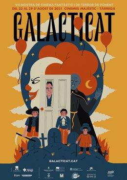 Cartell del VIII Galacticat, la Mostra de Cinema Fantàstic i de Terror de Ponent a Tàrrega (Lleida).