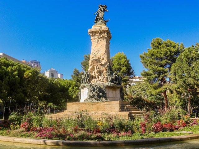 Monumento a los Sitios, en Zaragoza.