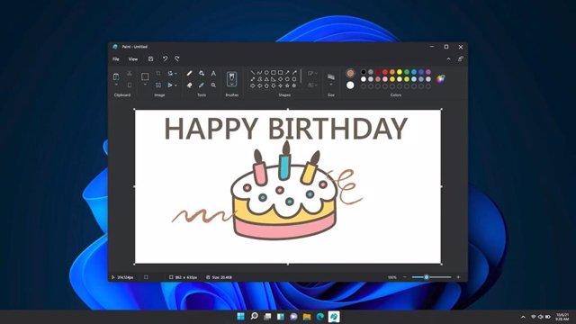 Paint en modo oscuro para Windows 11.