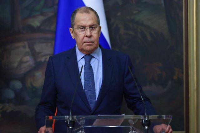 Archivo - Sergei Lavrov, ministro de Exteriores de Rusia.