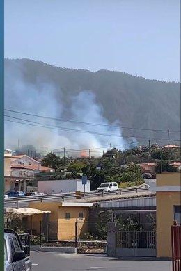 Conato de incendio en el municipio de El Paso (La Palma) que posteriormente evolucionó a incendio agrícola-urbano