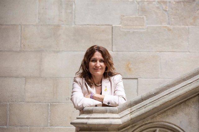 La consellera de la Presidència del Govern de la Generalitat de Catalunya, Laura Vilagrà, durant una entrevista per a Europa Press, en el Palau de la Generalitat, a 3 d'agost de 2021, a Barcelona, Catalunya (Espanya).