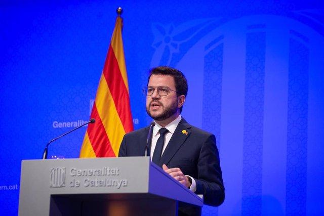 El presidente de la Generalitat, Pere Aragonès