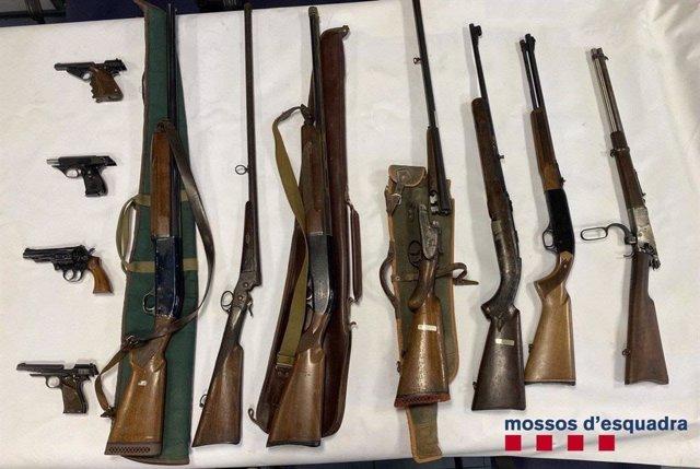 El presumpte autor de les amenaces contra el president Pere Aragonès tenia 11 armes de foc a la seva casa