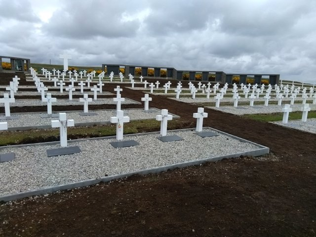 Cementerio de Darwin en las Malvinas