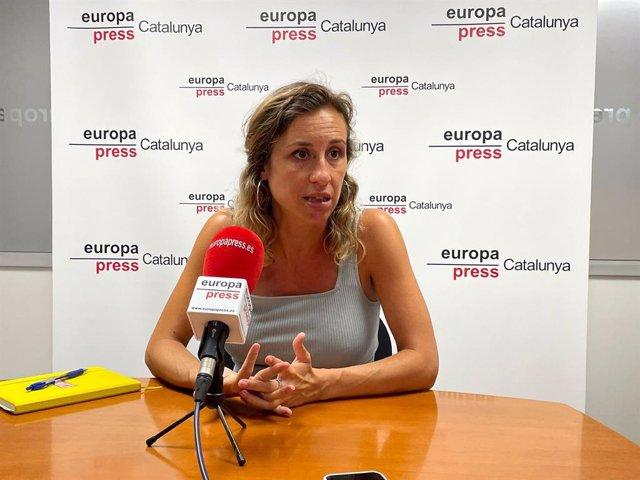 Laia Estrada durant l'entrevista