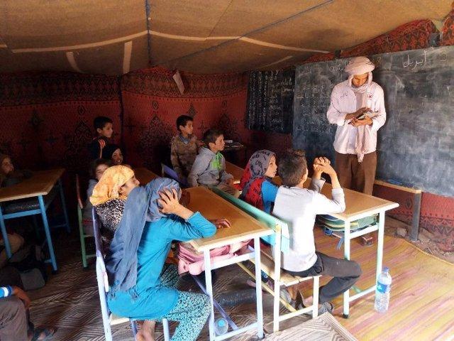 Escuela del desierto de M'hamid, una ciudad oasis en Marruecos
