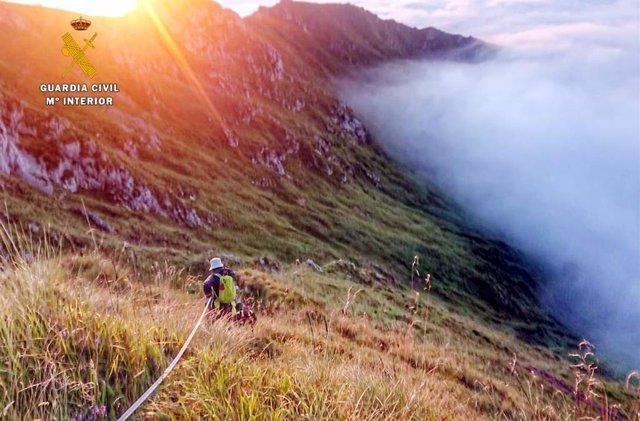 Rescate montañero en Tresviso