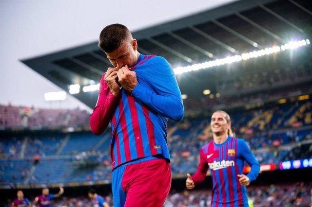 El central del FC Barcelona Gerard Piqué